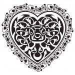 Valentines Day tatto heart — Stock Vector #61979781