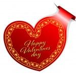 Valentines Day sticker — Stock Vector #62012321