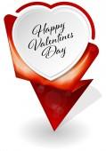 Valentines Day infographic banner — ストックベクタ