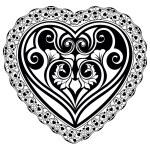 Valentines Day tatto heart — Stock Vector #62644851