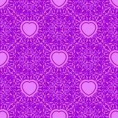 Seamless texture with heart — Stock Vector