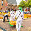 ������, ������: ALKMAAR THE NETHERLANDS SEPTEMBER 7: Carriers walking with ma