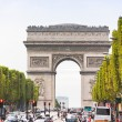 The Champs-Elysees and the Arc de Triomphe, Paris, France — Stock Photo #65857033