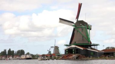 Windmills in Holland — Vídeo de Stock