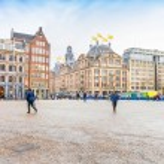 View of the Dam square, Amsterdam — Stock Photo #68455515