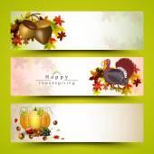 Thanksgiving banner for thanksgiving day celebration. — Stock Vector