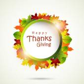 Thanksgiving day celebration with stylish frame. — Stock Vector