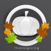 Thanksgiving day celebration with pumkin label.  — Stock Vector