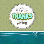 Thanksgiving day celebration with stylish card. — Stock Vector
