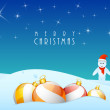 Poster, banner and card for Merry Christmas. — Stock Vector #58017631