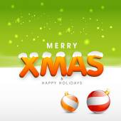Poster, banner and card for Merry Christmas. — Stockvector