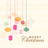 Poster and banner for Merry Christmas. — Stock Vector