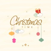 Poster and banner for Christmas time. — Vecteur