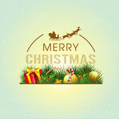 Poster and banner for Merry Christmas. — Vecteur