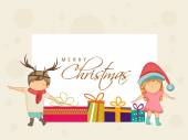 Poster, banner and card for Merry Christmas. — Stock Vector