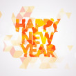 Stylish text of Happy New Year. — Stock Vector #58298473