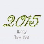 Happy New Year celebration with stylish text design. — Cтоковый вектор