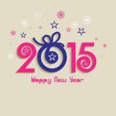 Poster or banner for New Year 2015. — Stock Vector