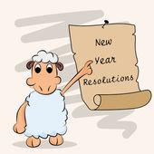 New Year celebration with cartoon animal. — Stock Vector