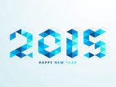 Happy New Year 2015 celebration with stylish text. — Stock Vector