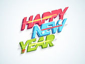 Happy New Year celebration with stylish text. — Stock Vector