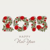 New Year 2015 celebration with stylish text design. — Stockvector