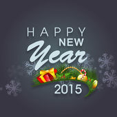 Poster and banner for Happy New Year 2015. — Stock Vector