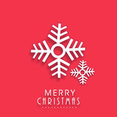 Poster and banner for Merry Christmas with snowflake. — Stock Vector