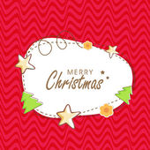 Kiddish poster for Merry Christmas. — Stock Vector