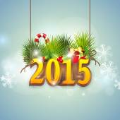 Happy New Year 2015 celebrations. — Vecteur
