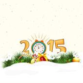 Happy New Year 2015 celebrations. — Cтоковый вектор