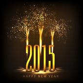 Happy New Year 2015 celebrations. — ストックベクタ
