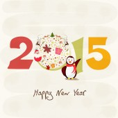 Happy New Year 2015 stylish text design. — Stock Vector