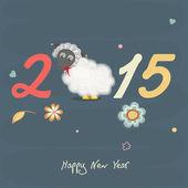 Snygg text av gott nytt år får. — Stockvektor