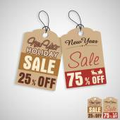 Tag or label for Christmas and New Year sale. — Stock Vector