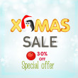 Poster, banner or flyer for Xmas sale. — Stock Vector #58798511