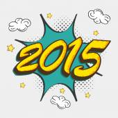 Poster, banner or flyer for New Year 2015. — Vetor de Stock