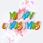 Merry Christmas celebration poster with stylish text. — Stock Vector