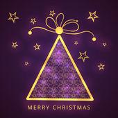 Celebration of Merry Christmas festival with x-mas tree. — Stock Vector