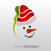 Merry Christmas celebration with snowman. — Stock Vector