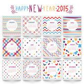 Stylish 2015 Year calendar design. — Stock Vector