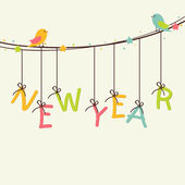 Poster, banner or flyer for New Year 2015. — Stock Vector