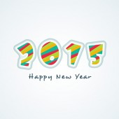 New Year 2015 celebration with colorful text. — Stock Vector