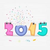 New Year 2015 celebration in kiddish style. — Stock Vector