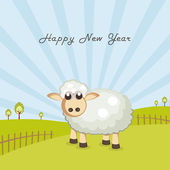 Celebration of Happy New Year Of Sheep. — Stock Vector