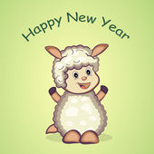 Chinese New Year Of Sheep. — Vector de stock