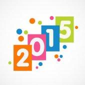 Celebration of Happy New Year 2015. — Stock Vector
