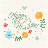 Poster of Happy New Year celebration occasion. — Stock Vector