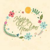 Poster, banner, greeting card or flyer of Happy New year. — Stock Vector