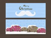 Merry Christmas celebration with header or banner. — Stock Vector